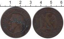 Изображение Монеты Франция 10 сантим 1856 Бронза XF-