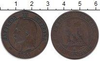 Изображение Монеты Франция 10 сантимов 1861 Бронза XF-