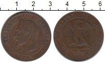 Изображение Монеты Франция 10 сантимов 1863 Бронза XF-
