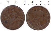 Изображение Монеты Франция 10 сантим 1916 Бронза XF-