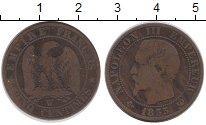 Изображение Монеты Франция 5 сантим 1855 Бронза XF-