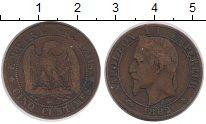 Изображение Монеты Франция 5 сантим 1862 Бронза XF-