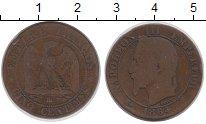 Изображение Монеты Франция 5 сантим 1864 Бронза XF-