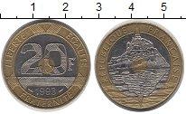 Изображение Монеты Франция 20 франков 1993 Биметалл UNC-