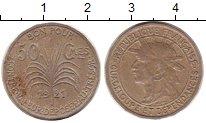 Изображение Монеты Гваделупа 50 сантим 1921 Медно-никель XF-