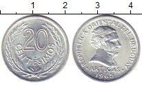 Изображение Монеты Уругвай 20 сентесим 1965 Алюминий UNC- Хосе  Артигас
