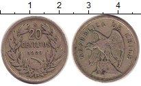 Изображение Монеты Чили 20 сентаво 1923 Медно-никель XF- Орел