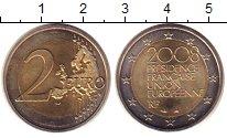 Изображение Монеты Франция 2 евро 2008 Биметалл UNC Председательство  Фр