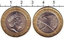 Изображение Монеты Великобритания 2 фунта 2016 Биметалл UNC