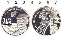 Изображение Монеты Франция 1 1/2 евро 2004 Серебро Proof Пьер де Кубертэн.  О