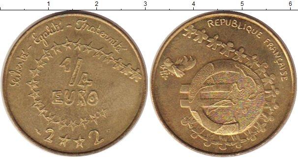 Картинка Монеты Франция 1/4 евро Латунь 2002