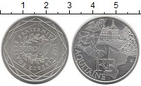 Изображение Монеты Франция 10 евро 2011 Серебро UNC- AQUITAINE