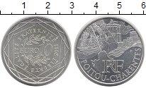 Изображение Монеты Франция 10 евро 2011 Серебро UNC- POITOU-CHARENTES