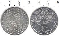 Изображение Монеты Франция 10 евро 2011 Серебро UNC- Регионы Франции - Бу