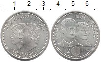 Изображение Монеты Испания 12 евро 2004 Серебро UNC Хуан Карлос I и Софи