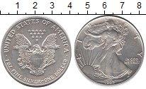 Изображение Монеты США 1 доллар 1992 Серебро UNC Шагающая свобода