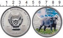 Изображение Монеты Конго 240 франков 2008 Серебро Proof Большая  африканская