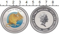 Изображение Монеты Острова Питкэрн 2 доллара 2008 Серебро Proof