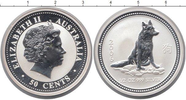 Картинка Монеты Австралия 50 центов Серебро 2006