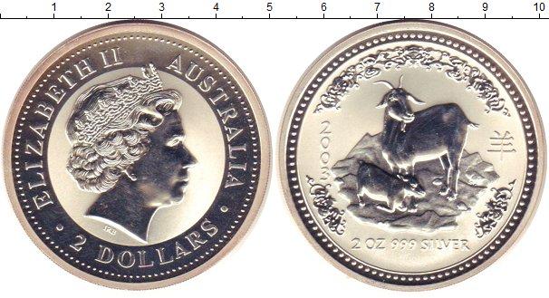 Картинка Монеты Австралия 2 доллара Серебро 2003