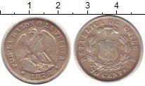 Изображение Монеты Чили 20 сентаво 1878 Серебро XF