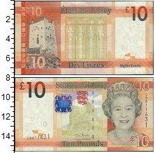 Изображение Боны Остров Джерси 10 фунтов 0  XF Елизавета II