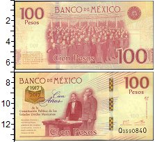 Изображение Банкноты Мексика 100 песо 2017  XF