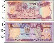 Изображение Банкноты Фиджи 10 долларов 0  XF
