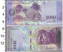 Изображение Банкноты Венесуэла 1.000 боливар 2016  UNC Броненосец