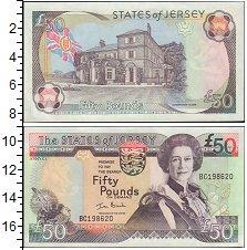 Изображение Боны Остров Джерси 50 фунтов 0  XF