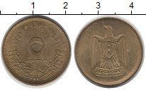 Изображение Монеты Египет 5 миллим 1960 Латунь XF