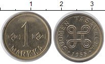 Изображение Монеты Финляндия 1 марка 1955 Железо UNC
