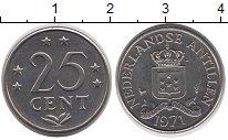 Изображение Монеты Антильские острова 25 центов 1971 Медно-никель UNC-
