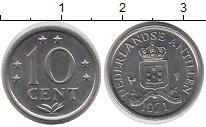 Изображение Монеты Антильские острова 10 центов 1971 Медно-никель UNC-