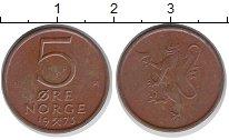 Изображение Монеты Норвегия 5 эре 1973 Бронза XF