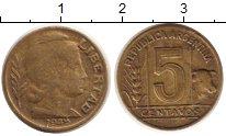 Изображение Монеты Аргентина 5 сентаво 1948 Латунь VF Корова