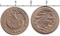 Изображение Монеты Колумбия 10 сентаво 1964 Медно-никель UNC-