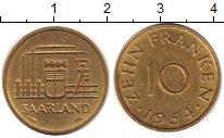 Изображение Монеты Саар 10 франков 1954 Латунь UNC-