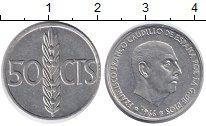 Изображение Монеты Испания 50 сентимо 1966 Алюминий UNC-