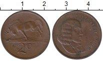 Изображение Монеты ЮАР 2 цента 1969 Бронза XF