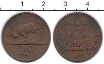 Изображение Монеты ЮАР 2 цента 1971 Бронза XF-