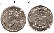 Изображение Монеты Филиппины 10 сентимо 1972 Медно-никель UNC-
