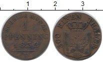Изображение Монеты Пруссия 1 пфенниг 1832 Медь XF
