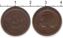 Изображение Монеты Португалия 5 сентаво 1927 Бронза XF