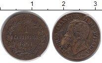 Изображение Монеты Италия 1 сентесимо 1861 Бронза XF-
