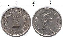 Изображение Монеты Мальта 2 цента 1972 Медно-никель XF