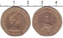 Изображение Монеты Остров Джерси 20 пенсов 1994 Медно-никель XF