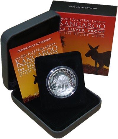 Изображение Подарочные монеты Австралия Кенгуру 2011 Серебро Proof