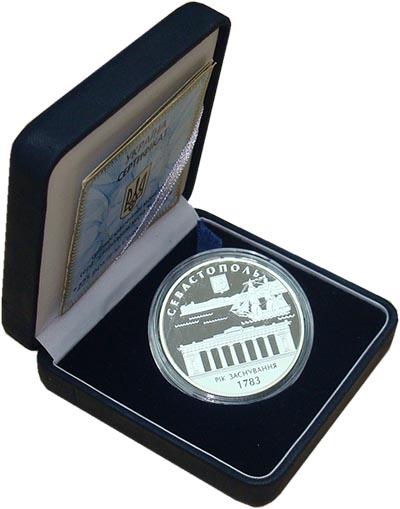 Изображение Подарочные монеты Украина Севастополь 2008 Серебро Proof `Монета номиналом 10