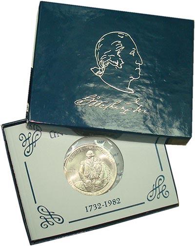Изображение Подарочные наборы США Джордж Вашингтон 1982 Серебро UNC